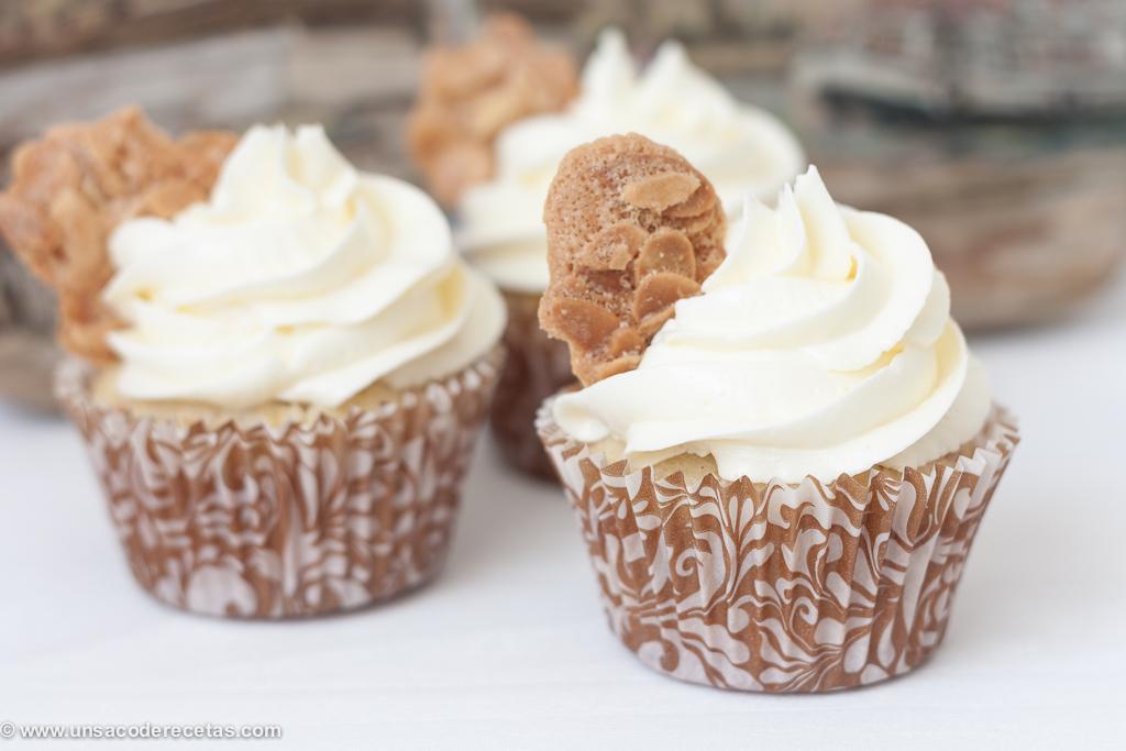 Cupcakes de Tejas de almendras